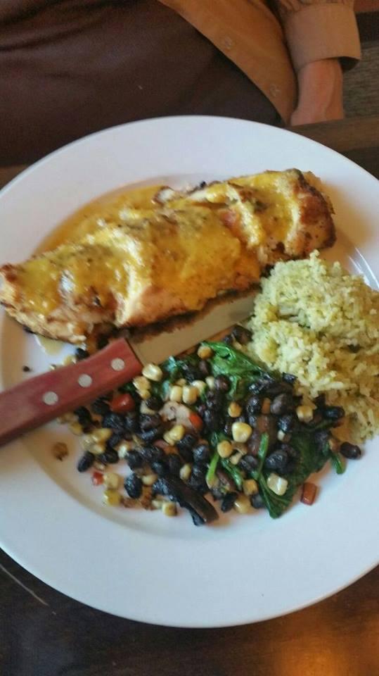 Pollo Parado; signature chicken dish at Osorio's Latin Fusion restaurant in Appleton, WI.